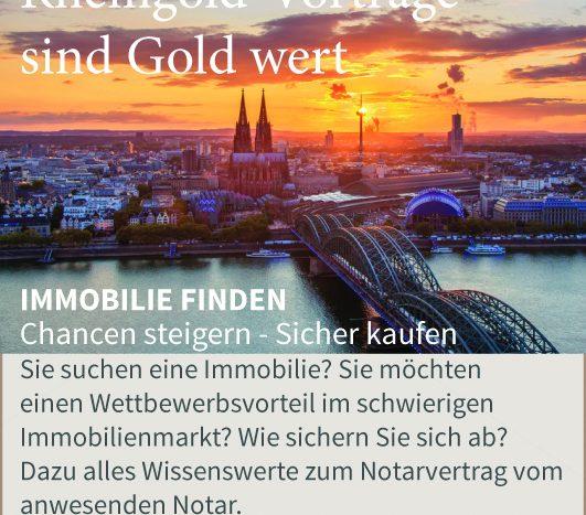Rheingold Immobilien Vorträge sind Gold wert