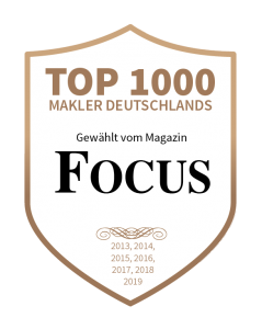 Top 1.000 Makler laut Focus seit 2013
