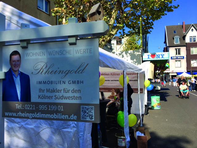 Carreefest in Sülz/Klettenberg Stand Rheingold Immobilien