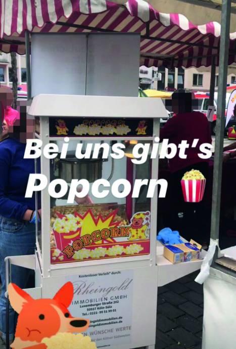 Popkornmaschine Rheingold Immobilien